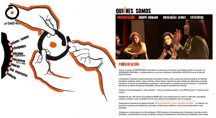 Espacio web Artexpresa